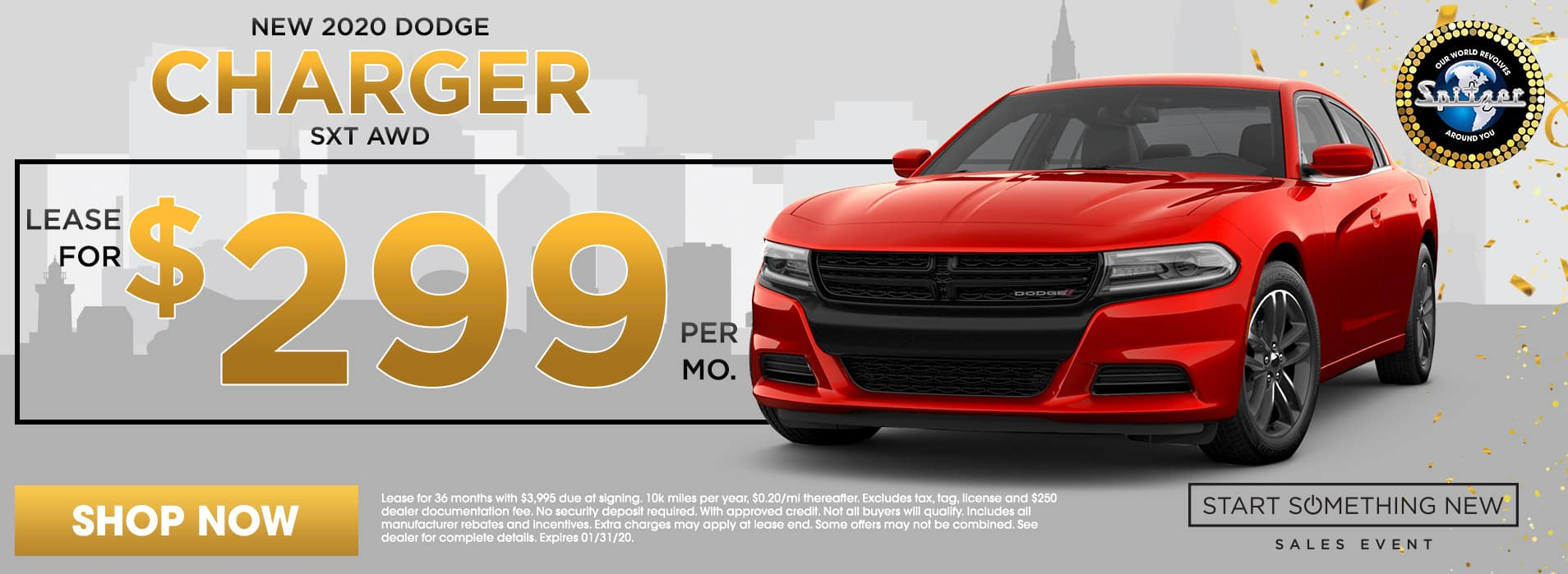 Charger | Lease for $299 per mo
