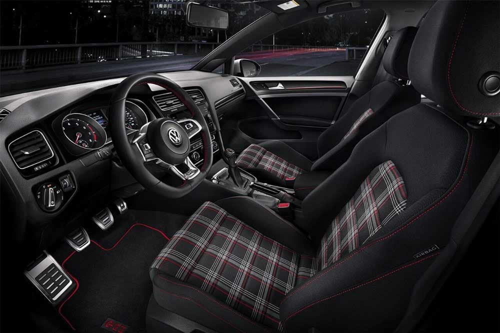 2018 Volkswagen Golf GTI clark plaid cloth