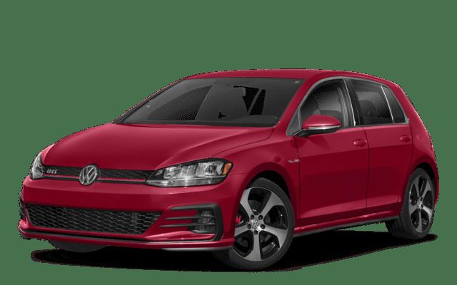 2018 Golf GTI Maroon Angled