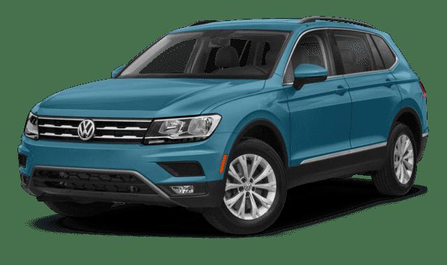 Blue VW Tiguan