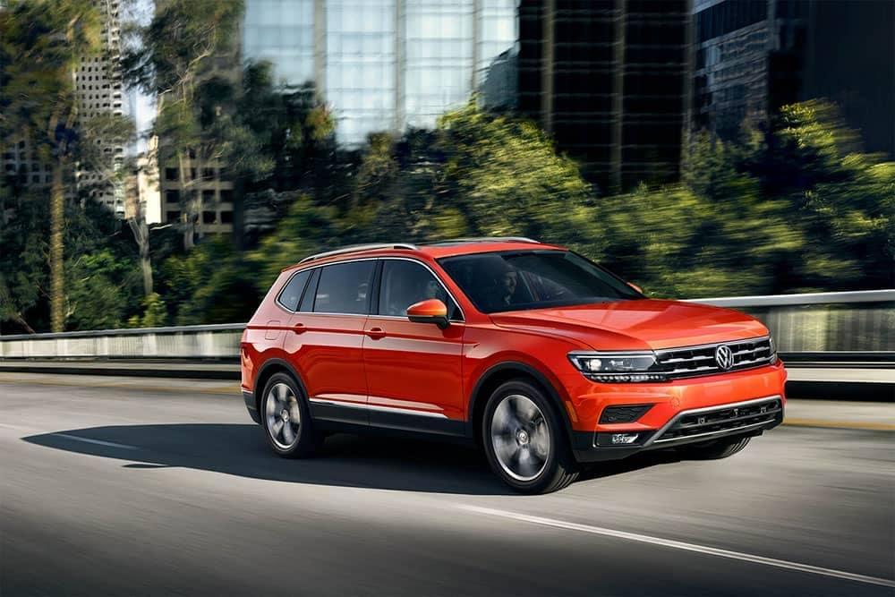 2019 Volkswagen Tiguan on the road