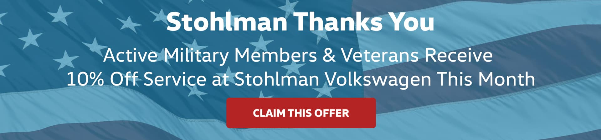 Active military members & veterans receive 10% off service this month