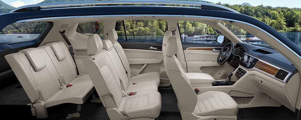 Superb 2019 Volkswagen Atlas Interior Features Vw Three Row Suv Pabps2019 Chair Design Images Pabps2019Com