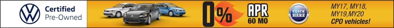 0% APR Financing on CPO Vehicles