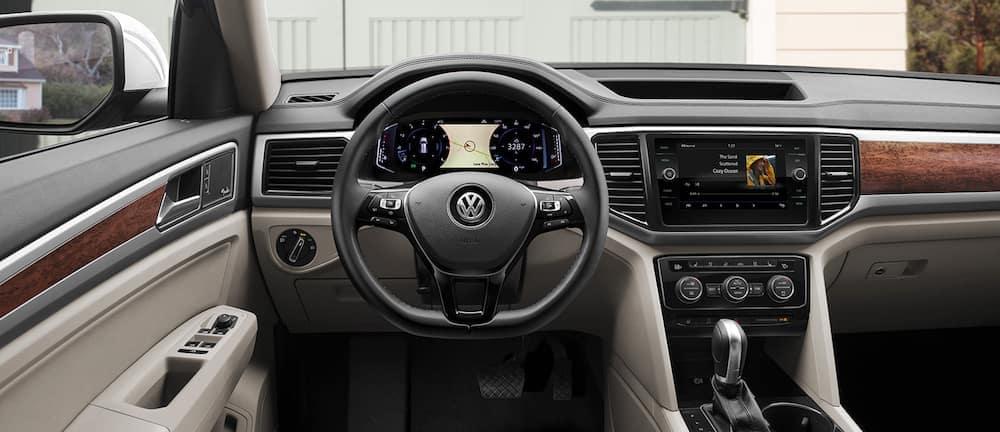 Interior view of a 2020 VW Atlas