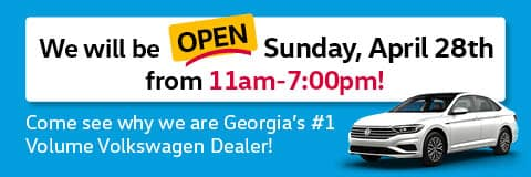 We will be open Sunday, April 28th from 11am-7:00pm!