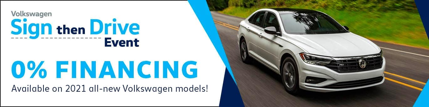 0% available on 2021 All-New Volkswagens!