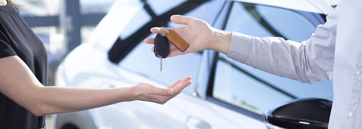 Handing Off Keys at Dealership