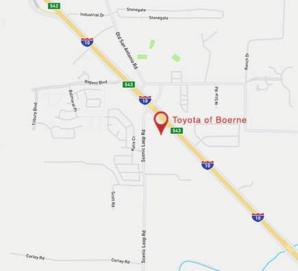 Toyota of Boerne Map