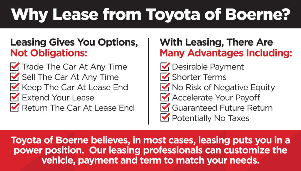 Why Lease from Toyota of Boerne?