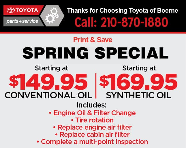 Toyota of Boerne Service Special, Print and Save!