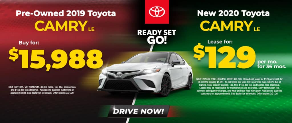 Buy or Lease a Toyota Camry