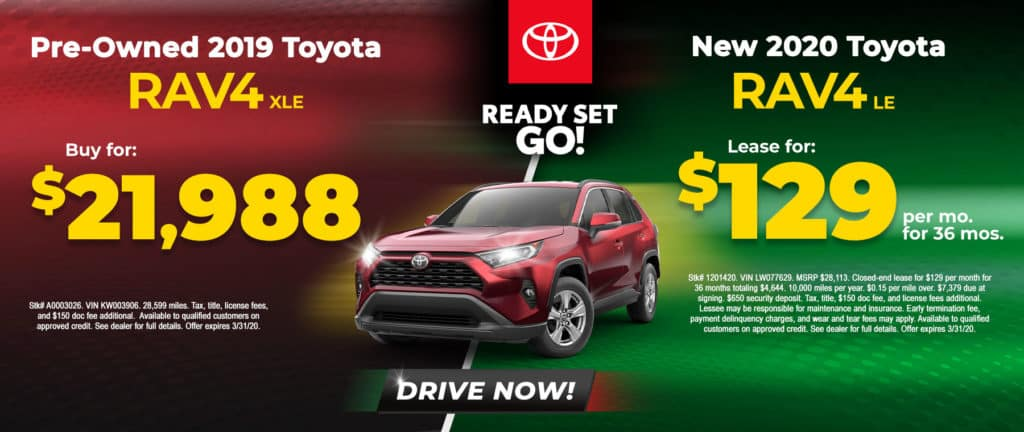 Buy or Lease a Toyota RAV4