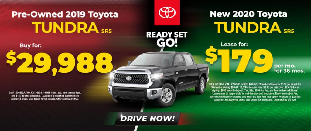 Buy or Lease a Toyota Tundra