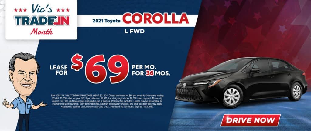 New 2021 Toyota Corolla L 4D Sedan FWD