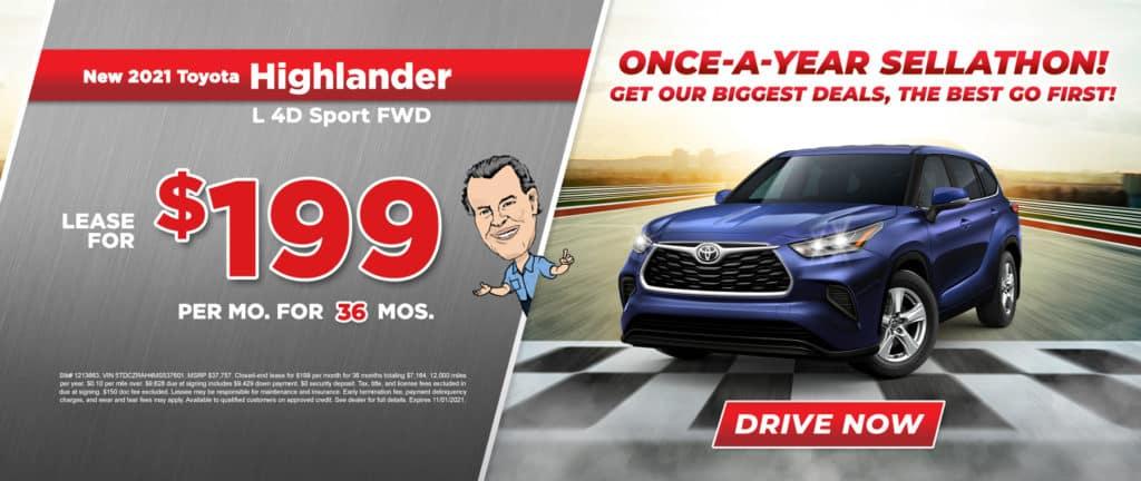 New 2021 Toyota Highlander L 4D Sport FWD
