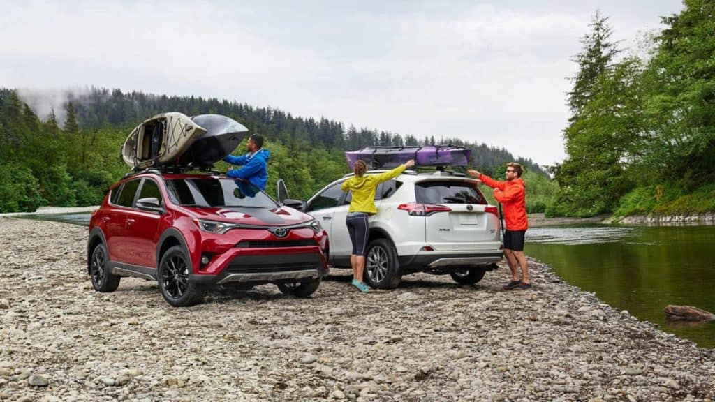 2018 Toyota RAV4 on the lake