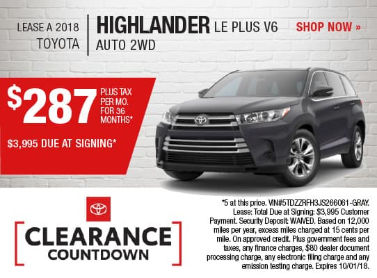 2018 HIGHLANDER LE PLUS V6
