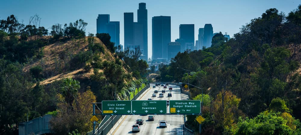 View of 110 freeway and LA from Park Ro
