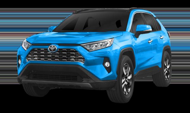 2019 Blue Toyota RAV4 LE