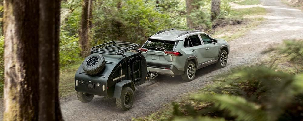 Rav4 towing in forest