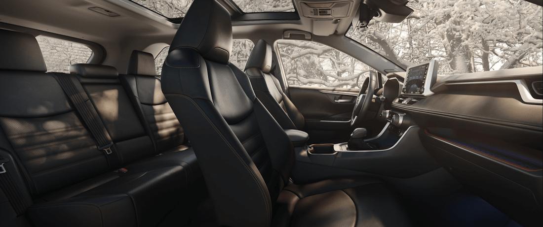 2020 Toyota RAV4 interior seating second row