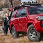 Red 2020 Toyota 4Runner Venture Special Edition shown in Barcelona Red Metallic