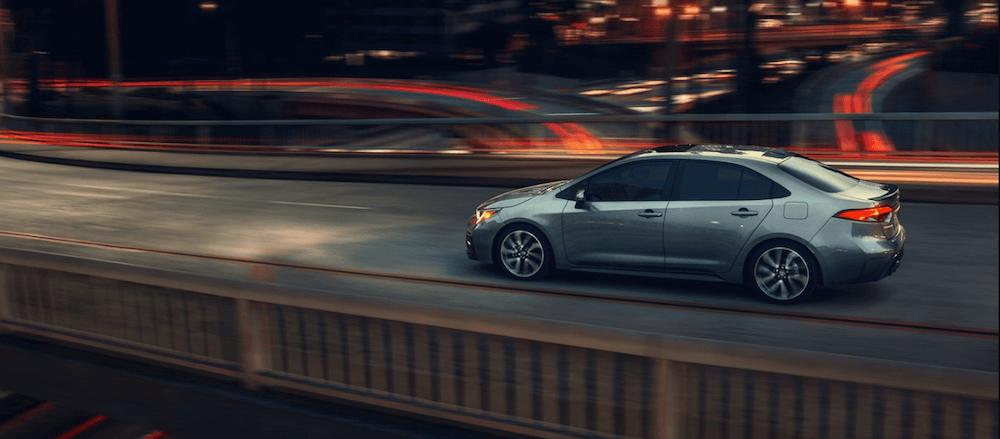 2020 Toyota Corolla driving on LA highway
