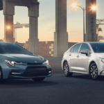 2021 Toyota Corolla XSE Configurations parked under bridge