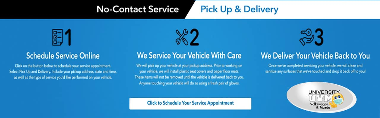 No Contact Service, Pickup and Delivery