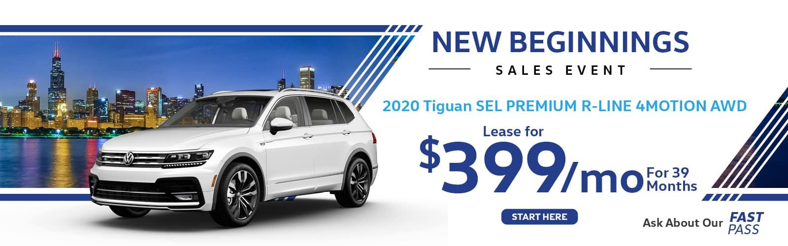White 2020 Tiguan SEL Premium