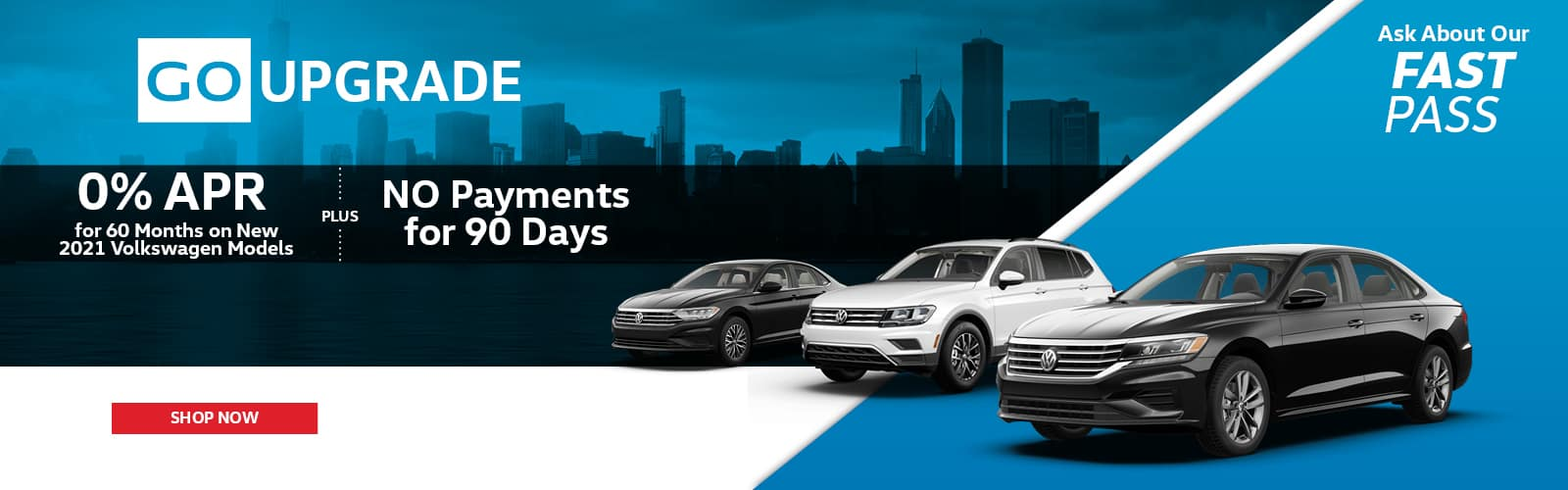 No Payments 90 Days white and black 2021 new VW models