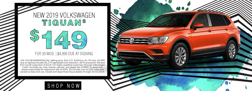 New 2019 Volkswagen Tiguan S | $149 For 39 Months | $4,999 Due At Signing