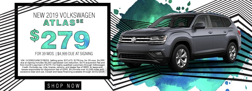 New 2019 Volkswagen Atlas SE | $279 For 39 Months | $4,999 Due At Signing
