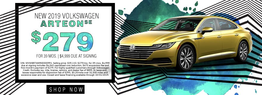 New 2019 Volkswagen Arteon SE | $279 For 39 Months | $4,999 Due At Signing