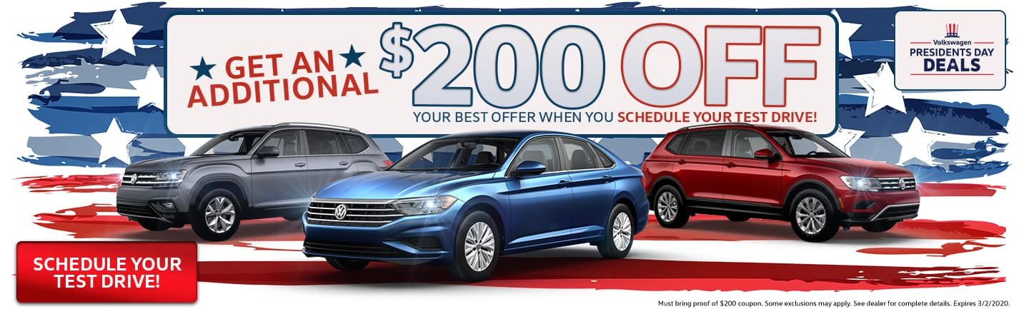 Get An Additional $200 Off Your Best Offer When You Schedule Your Test Drive