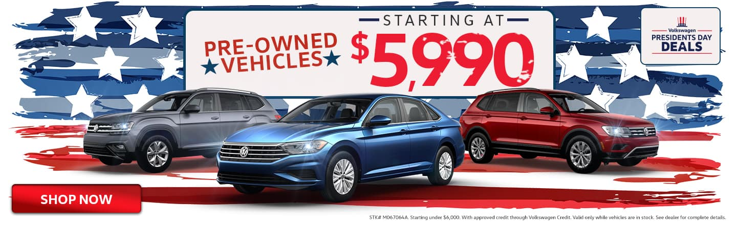Pre-Owned Vehicles Starting At $5,990
