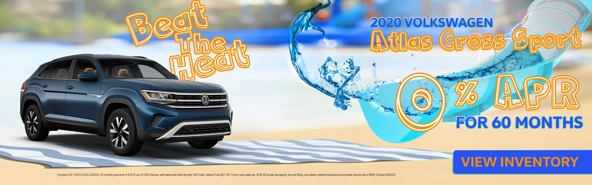 Beat The Heat | 2020 Volkswagen Atlas Cross Sport | 0% APR For 60 Months