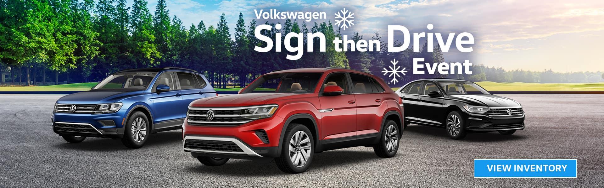 VW Sales Event | Volkswagen Sign Then Drive Event