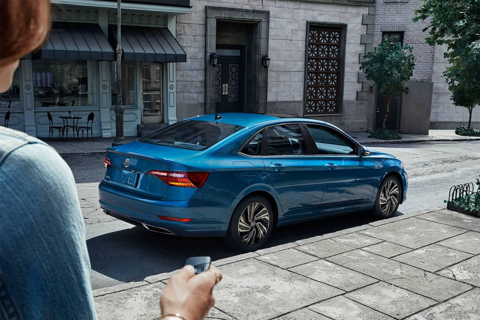 2019 Volkswagen Jetta SEL Premium in silk blue metallic parked