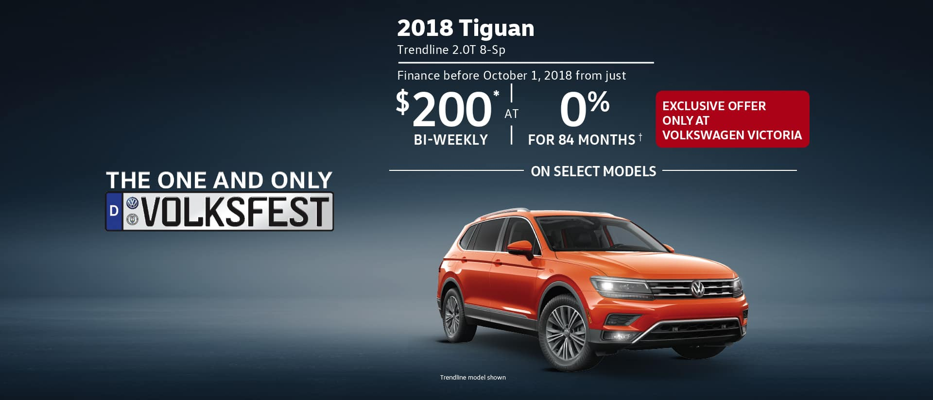 Volksfest - Clearance Event - Tiguan special offer