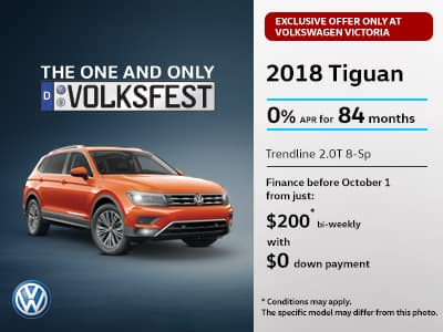Exclusive limited time offer on the 2018 Tiguan only with Volkswagen Victoria!