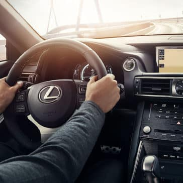 Driver in 2017 Lexus IS F Sport