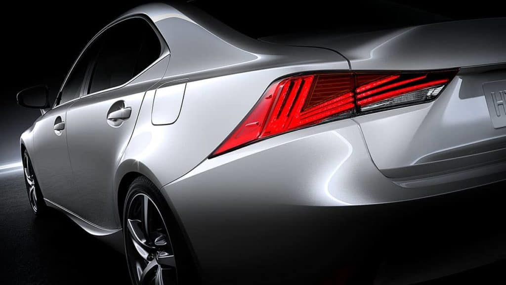 2018 Lexus IS LED taillamps