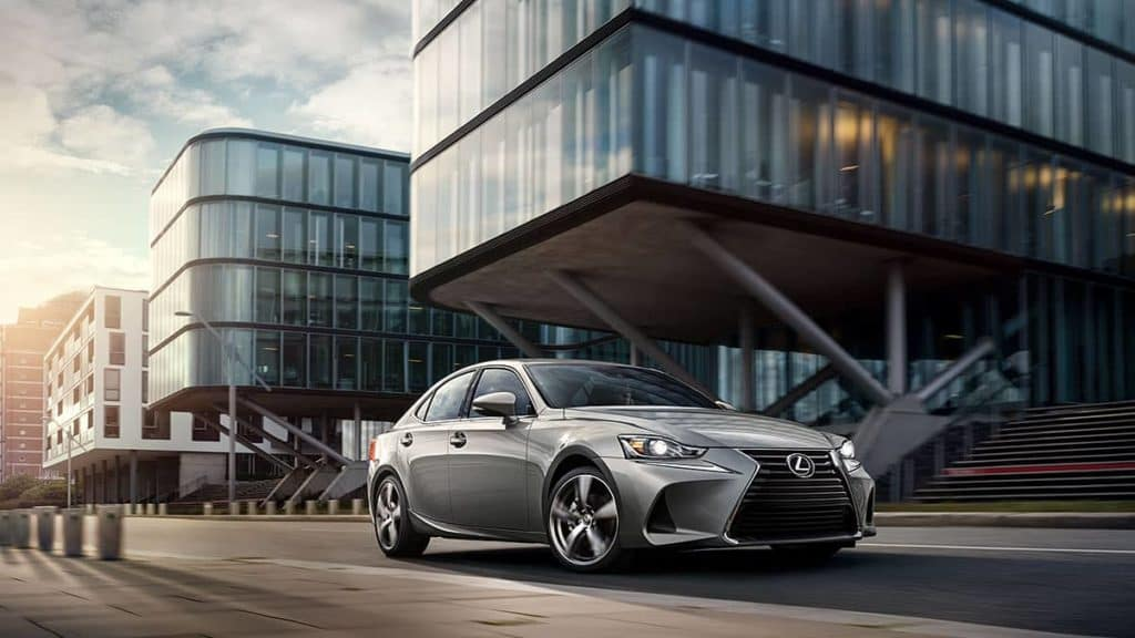 2018 Lexus IS silver lining metallic by stairwell