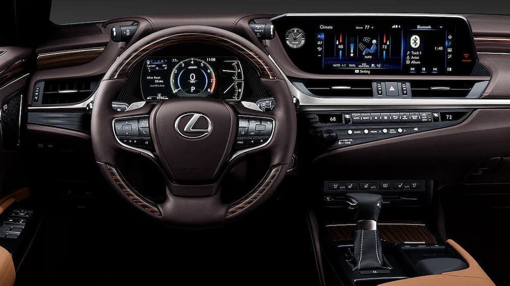 2019 Lexus ES 350 Ultra Luxury with Flaxen Semi Aniline Leather Trim