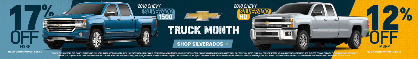 Chevy Silverado Truck Month Offers Lebanon Aug 18