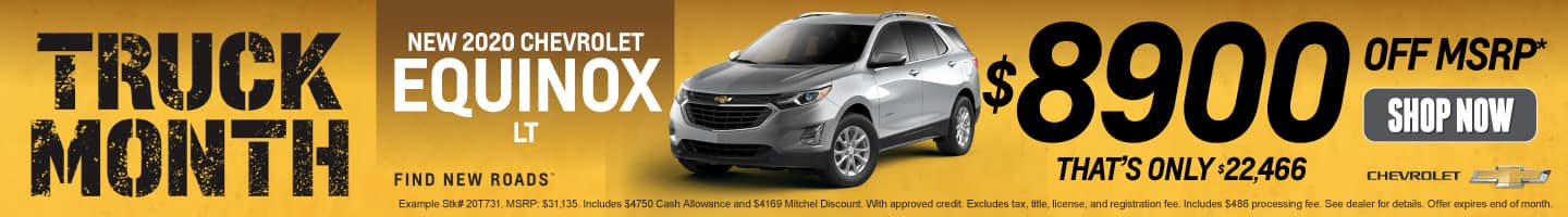New 2020 Chevrolet Equinox - $8900 off MSRP - Shop Now
