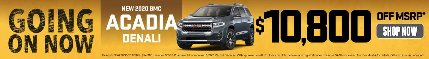 New 2020 GMC Acadia - Now $10,800 off MSRP - Shop Now