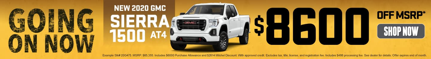 New 2020 GMC Sierra - $8600 off MSRP - Shop Now